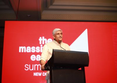 Gajendra Singh Shekhawat addressing Massive Earth Summit