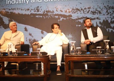 Suresh Prabhu and Gajendra Singh Shekhawat with Shailesh Vickram Singh Massive Earth Summit